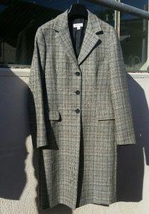 Barneys New York Glen Plaid Chesterfield Coat
